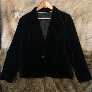 Banana Republic Black Velvet Blazer Jacket